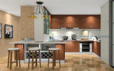 Gabinete de cozinha em forma de u da melamina (zg-028)