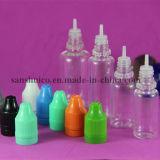 botella de Eliquid del animal doméstico 10ml con el casquillo a prueba de niños blanco del pisón