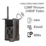 sistema di gestione dei materiali SMTP/SMS 12MP 1080P di 3G GPRS 120 gradi di PIR del sensore di vista di macchina fotografica selvaggia di angolo