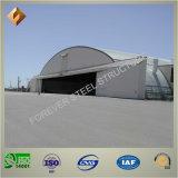Hangar prefabricado certificado de los aviones de la estructura de acero