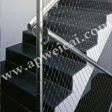 Escalera de acero inoxidable de malla de alambre