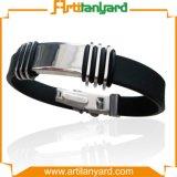 Bestellte Entwurfs-Firmenzeichen-Silikon-Armband voraus