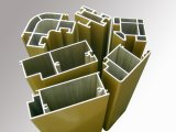 Extrusion en aluminium d'aluminium de profil de porte de matériau de construction