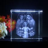 religión del cristal del laser 3D