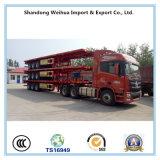40FT 콘테이너 수송을%s 반 3개의 차축 편평한 침대 트레일러