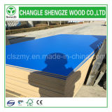 Junta MDF 1220X2440mm color azul decoración de los muebles de melamina