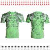 T-shirts faits sur commande de chemise de circuit de coton de modèle neuf