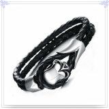 De Armband van het Leer van de Juwelen van de Mensen van de Juwelen van het roestvrij staal (LB093)