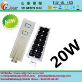 20W todo en una lámpara solar de Integerated LED