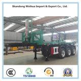 Remorque à plat de tombereau de transporteur de conteneur de camion à benne basculante de fournisseur de la Chine