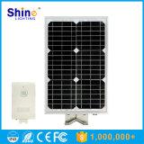 Luz de calle solar integrada Directo-Vendedora 15W de la fábrica con la función del sensor de movimiento