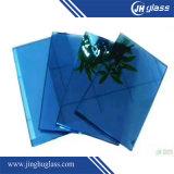 建物のための5mmの平らな濃紺の薄板にされた反射ガラス