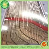 Gravura em àgua forte 201 da decoração do preço de grosso da alta qualidade chapa de aço 316 304 inoxidável para a fabricação do elevador da escada rolante