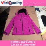 De Dienst van de Inspectie van de Kwaliteitsbeheersing Van de Jasjes van Softshell van dames in Fuzhou, Fujian