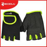 オットマンの物質的なケイ素の印刷のやしスリップ防止重量挙げの手袋のFingernessの手袋