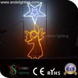 Lumière de corde de motif de bâti de Noël 2D