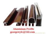 O ISO 9001 pulveriza da extrusão de alumínio do perfil do revestimento os perfis de alumínio para o indicador e a porta