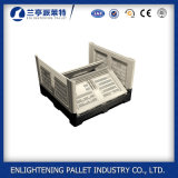 faltbarer Plastikkasten der zusammenklappbaren Plastikrahmen-660L auf Gabelstapler