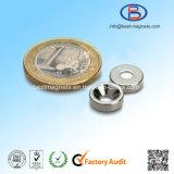 Magnete di NdFeB sinterizzato alta qualità con il foro della fresatura