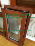 Stile americano all'interno della finestra di vetro di inclinazione & di girata di apertura, finestra solida della stoffa per tendine di legno di quercia per i clienti della Spagna