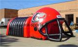 フットボールのサッカーの形の膨脹可能な野球のフットボールの入口のイベントのための膨脹可能なトンネルのテント