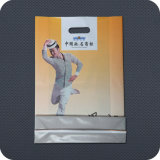 Kundenspezifischer gedruckter Plastik gestempelschnittener Handgriff-Kleid-Beutel