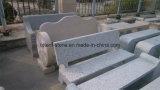 Banc de stationnement gris/jaune Polished normal de pierre de granit pour le jardin/stationnement