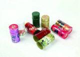 Tapones de tuerca de aluminio de la botella de vino de vino de la categoría alimenticia de la hoja caliente de aluminio de la botella Lid/30*60mm