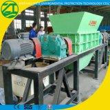 Double défibreur d'arbre pour le pneu/bois/déchets médicaux/fibre/papier/mousse/ressort/réutilisation en plastique