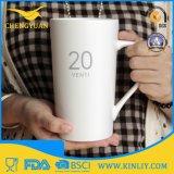 Caneca de café personalizada cerâmica do copo de chá da alta qualidade com número