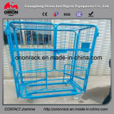 معدن فولاذ تخزين قفص سوقيّة لف وعاء صندوق مع عجلات