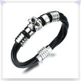 De Armband van het Leer van de Juwelen van het Roestvrij staal van de Juwelen van de manier (LB493)