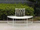 La más nueva muy Niza manera de la vendimia 2013 que dobla el banco al aire libre de los hierros labrados del metal del patio decorativo antioxidante clásico antiguo del jardín con dos asientos