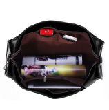 Sacchetto del Weekender del sacchetto di corsa del cuoio del nero di buona qualità di disegno dell'OEM