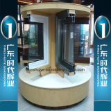 Finestra di alluminio con il doppio isolamento termico e di vetro