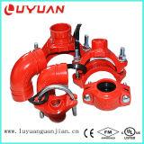 延性がある鉄の配管の火システムのための溝があるU字型ボルトのティー