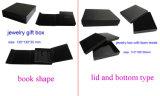 Rectángulo de regalo de papel de empaquetado modificado para requisitos particulares de la joyería elegante para el collar