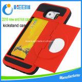 熱い販売のKickstand TPUのパソコンのプラスチック携帯電話カバーケース
