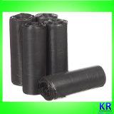 Schwarze HDPE Abfall-Beutel-Abfall-Beutel Onroll mit Kennsatz