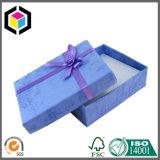 Contenitore di carta di colore della stampa di regalo a due pezzi blu del cartone