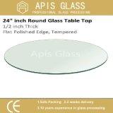 10 milímetros Dimensionados com forma oval temperada Tabela de vidro bordas polidas