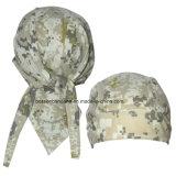 Nach Maß Firmenzeichen druckte Armee-Grün-Tarnung-Baumwollkopf-Verpackung justierbare komprimierende Skulll Bandana-Schutzkappen
