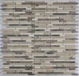 Mosaico de cristal posterior de la hoja para la cocina