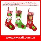 クリスマスの装飾(ZY14Y370-1-2-3)のクリスマスの子供の現在の容器のストッキング