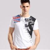 Projetos novos da impressão da camisa de T dos homens feitos sob encomenda por atacado da forma