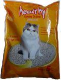 Natürliches Bentonit, das Katze-Sänfte aufhäuft