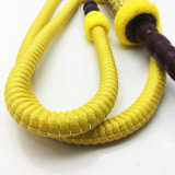 boyau jaune en bois de Shisha de narguilé de modèle de tête en métal de 1.8m (ES-HH-010-1)
