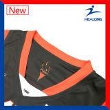Sublimazione rovesciabile della squadra su ordinazione qualsiasi camice delle uniformi del pullover di pallacanestro di marchio con gli Shorts