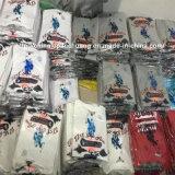 Os homens feitos sob encomenda das mulheres da forma da luva curta imprimiram o t-shirt do algodão