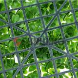 El boj plástico cerca de las hojas de cobertura sintética Hojas de cobertura artificial